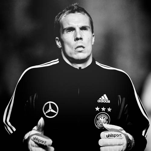 Germany's national football team goalkeeper Robert Enke warms up before a group D Euro 2008 qualification football game against Cyprus in Nicosia, 15 November 2006. The game ended in a draw 1-1., Image: 19583348, License: Rights-managed, Restrictions: , Model Release: no, Credit line: Profimedia, AFP